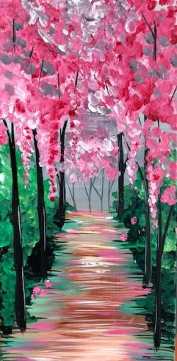 Morning Blossoms Adult Painting Kit