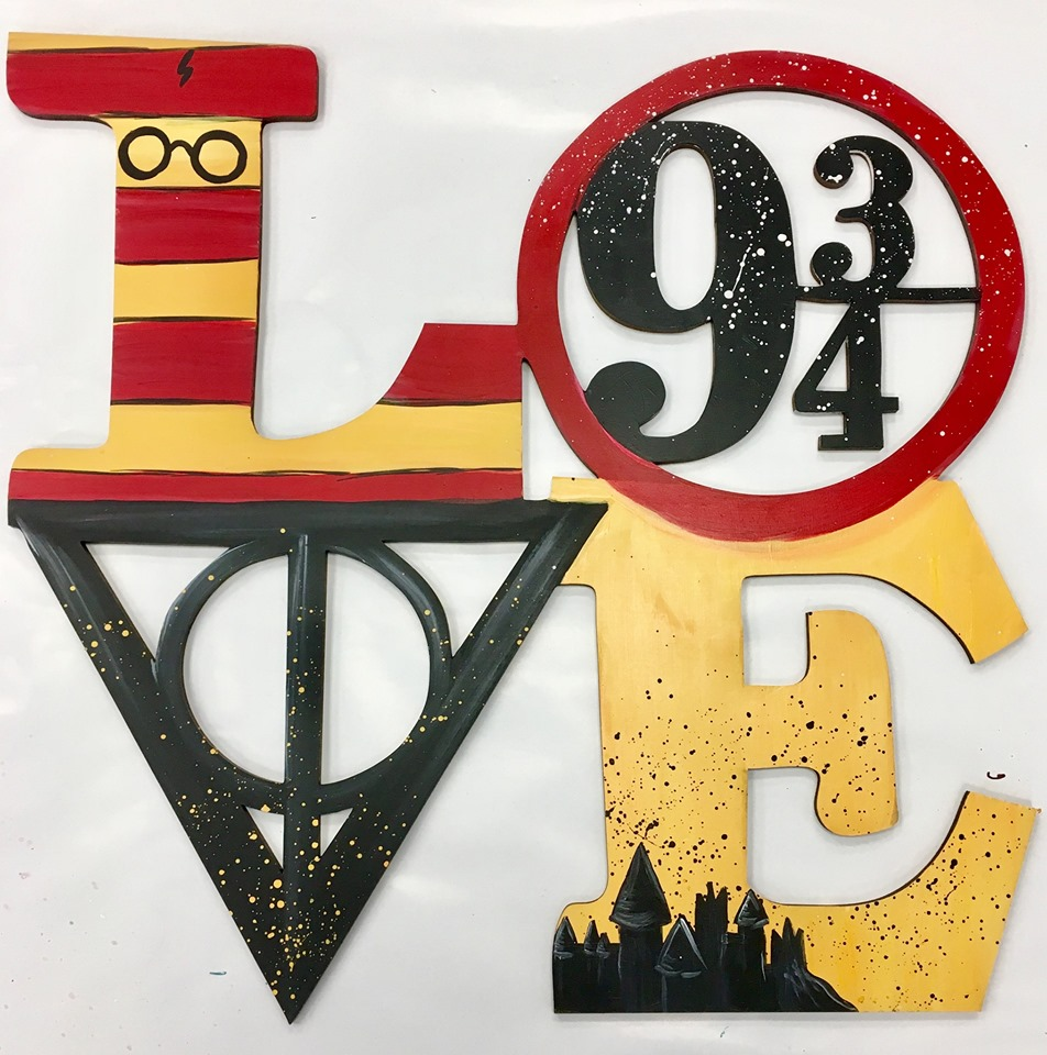 Harry Potter LOVE Door Hanger Painting Kit