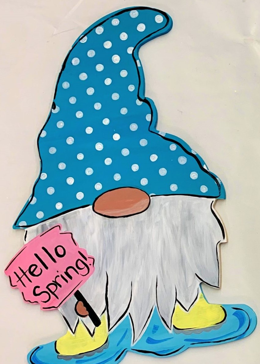 Spring Gnome Door Hanger Painting Kit