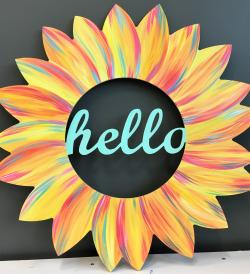 Hello Sunflower Door Hanger Painting Kit